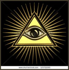 All seeing eye of god - gold - pyramid, Horus, freemasons EYE OF PROVIDENCE Symbol of Omniscience amp Supreme Being