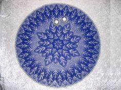 Toalha de mesa, renda tecida em tricô