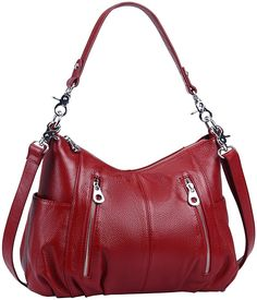Women's Leather Shoulder Cross Body Hobo Totes Top Handle Bag and Purse