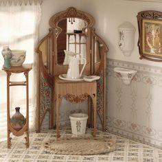 Modernist dresser furniture, scale 1:12. Handmade.