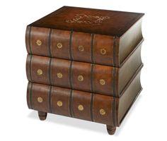 Book Side Table | Discoveries - | Michael Amini Furniture Designs |