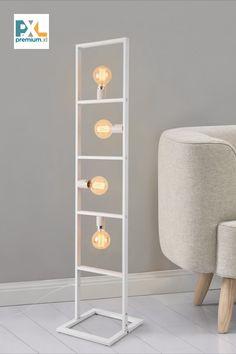 """Stojaca lampa """"Plauen"""" HT191036 biela 4xE27. Táto štýlová kovová [lux.pro] Stojaca lampa """"Plauen"""" HT168073 je krásnym a moderným bytovým doplnkom aj do Vašej domácnosti. #premiumXL #osvetlenie #bývanie #štýl #dizajn Shelving, Design, Home Decor, Shelves, Decoration Home, Room Decor, Shelving Units, Home Interior Design"""