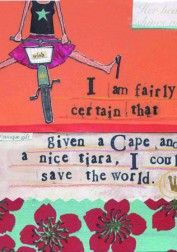 Cape & Tiara Art Board