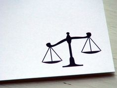 Scales of Justice Personalized Stationery by Fiona Designs