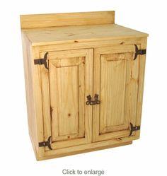 Image Of Rustic Pine Bathroom Vanity