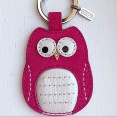 Authentic Coach Keychain Fob NWT Pink Owl~ Authentic Coach Keychain Fob NWT Pink Owl~Rare~Hard to Find Coach Accessories Key & Card Holders