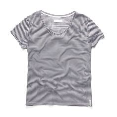 'the Twiggy' striped crewneck t-shirt is super soft, made to last, and a classic piece for any wardrobe.