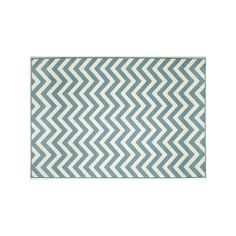 Momeni Baja Chevron Indoor Outdoor Rug, Light Blue #OutdoorRugs