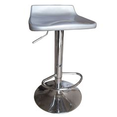 Sybill Adjustable Silver Chrome Finish Air Lift Stools (Set of 2) | Overstock.com Shopping - Great Deals on Bar Stools