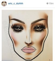 Face Chart by eric_c_duhhh via Instagram