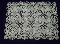 Square Motif Lace Doily Pattern. Diagram ONLY! This beautiful pattern can be extended into a lace bedspread and also a a lace tablecloth! More Patterns Like This!