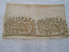 Ottoman antique turkish gold embroidered hand towel circa 1850 - 1860 textile
