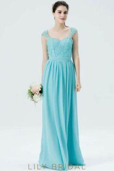 Sweetheart Cap Sleeve Sequinned Floor-Length Chiffon Bridesmaid Dress afdfa3dbd7b7