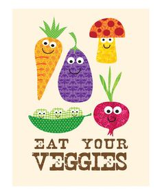 'Eat Your Veggies' Print by Ellen Crimi-Trent on #zulily today!
