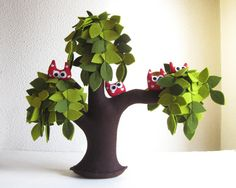 Owl family. There's something about this that I just love...thinking of this for kids room
