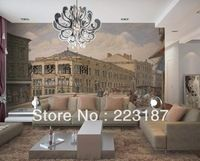 Vatican dream * European character line drawings of Renaissance sand TV setting wall painting roll study living room wall paper
