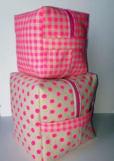 Sevenberry Neon Nesting Cubes Tutorial | Sew Mama Sew | by Mary on Lake Pulaski
