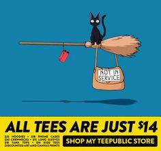 All my @TeePublic designs are on sale starting at $14!  #kiki #caturday #tshirt