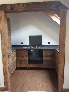 Cooking open-space...ingresso angolo cottura in legno antico di Larice Prima…