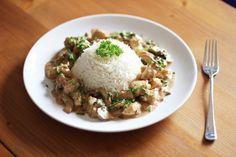 Hähnchengeschnetzeltes mit braunen Champignons in Rahmsoße und Basmati Reis, Reishunger, Rezept, Essen, Food, Foodblogger, Foodporn, Fashionkitchen