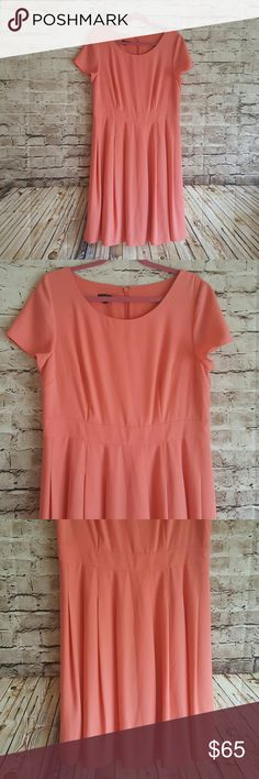 Talbots Date night dress You are going to want to Twirl in this dress. Soo cute and in a beautiful melon color. In excellent condition. Talbots Dresses Midi