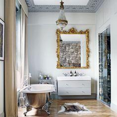 Home room design house design home design House Design Photos, Cool House Designs, Home Design, Design Ideas, Design Room, Home Luxury, Luxury Bath, Swedish Interiors, Luxury Mirror
