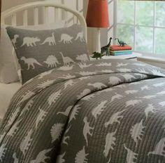 Max Kids Studio FULL Gray Dinosaur Bedding