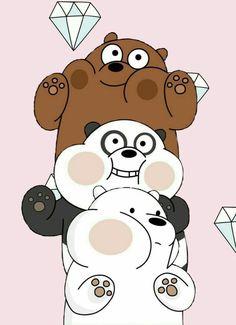 We Bare Bears Diamonds Cute Panda Wallpaper, Cartoon Wallpaper Iphone, Bear Wallpaper, Cute Disney Wallpaper, Kawaii Wallpaper, We Bare Bears Wallpapers, Panda Wallpapers, Cute Cartoon Wallpapers, We Bear