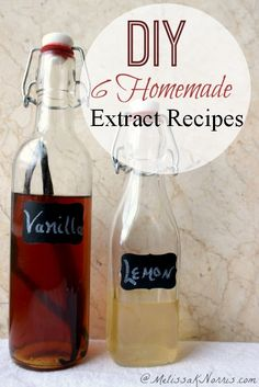 Tired of grocery stores prices? DIY 6 homemade extract recipes to create a frugal pantry. Perfect for gifts. Read this now to have your extracts done in time for the holidays!