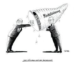 """OÖN-Karikatur vom 9. November 2016: """"Das Füllhorn und die Deckelung"""" Mehr Karikaturen auf: http://www.nachrichten.at/nachrichten/karikatur/ (Bild: Mayerhofer)"""