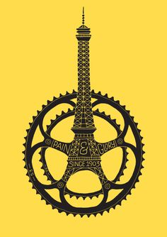 cadenced:    Dave Foster produces a poster to commemorate the 100th anniversary for the Tour de France.