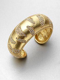 ABS by Allen Schwartz Jewelry Stone Accented Bangle Bracelet