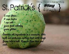 St. Patty's Playdough