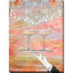 FramedArt.com By Jodi 'Cheers Peach' Giclee Print Wall Art