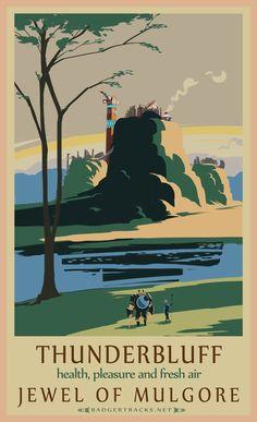 thunderbluff classic rail poster