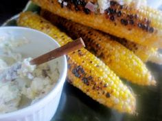 karenlovesgoodfood: Grilled Corn with Herb Shallot Compound Butter
