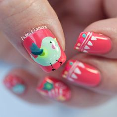 Twin Mani with Mina from Cubbiful - Cute Bird Nails