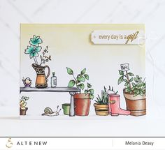What a gorgeous scene created by Melanie! She used the Garden Grow stamp set from Altenew.