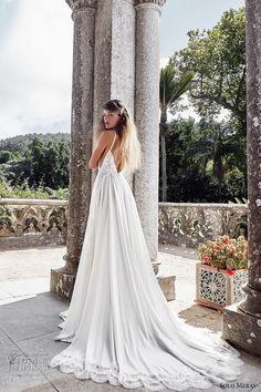 solo merav 2017 bridal half sleeves jacket spagetti strap sweetheart neckline heavily embellished bodice romantic a line wedding dress low back chapel train (emma) bv
