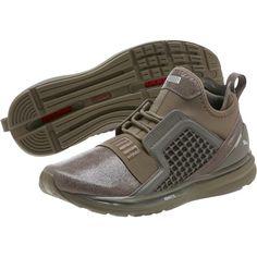 PUMA IGNITE Limitless Metallic Suede Women s Sneakers Bungee Cord 9 84e14f2ab
