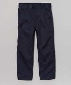 Love this Dark Blue Pleated Pants - Boys by Beverly Hills Polo Club on #zulily! #zulilyfinds $13.99, regular 24.00