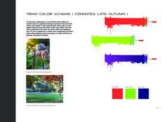 Color Scheme for Late Autumn. Triad Color Scheme, Color Schemes, Late Autumn, One And Other, Portfolio Design, My Design, College, Branding, R Color Palette