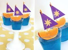 Sailboat snacks for a Nautical themed birthday party...love!