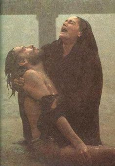 Mary, Mother of Jesus after he died on the cross