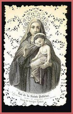French prayer card