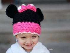 MINNIE MOUSE crochet hat   Juliana would love!