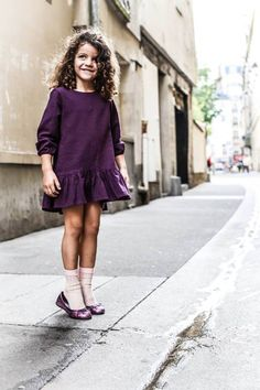 Nico Nico Clothing AW14 Naomi Dress on Les enfants a Paris combined with Collegien socks. Photograph taken by Emily Kornya
