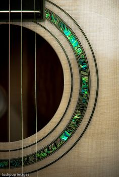 Acoustic Guitar - Rosette Mother-of-pearl inlay