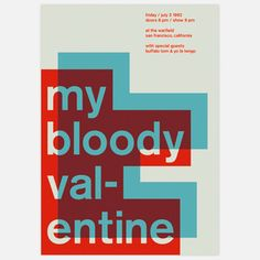 Bloody Valentine, 1992 17x23.75 now featured on Fab.