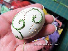 Hand Embroidery on Eggs – Sneak Peek – Needle'nThread.com